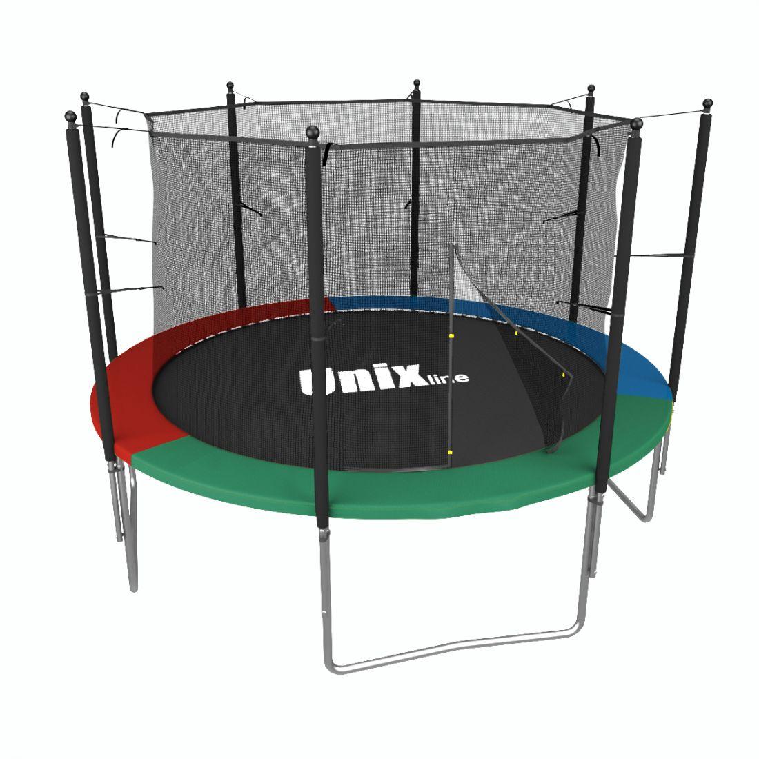 Батут Unix line Simple 8 ft Color/Green (inside)