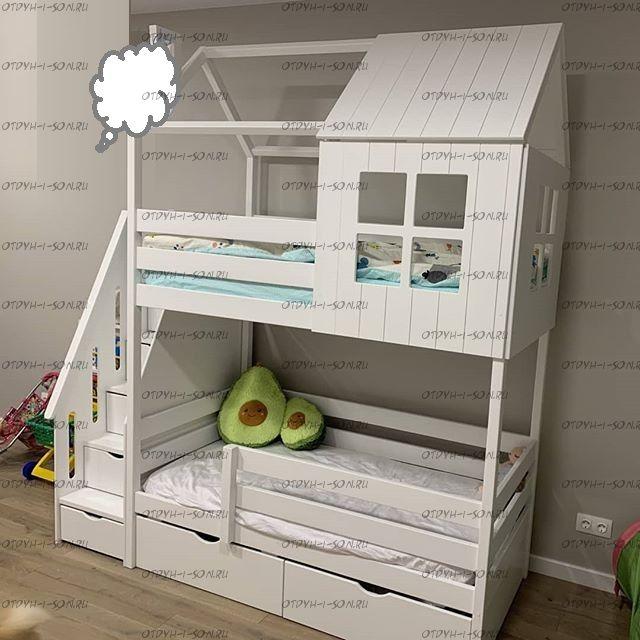 Двухъярусная кровать Домик Felicia №24