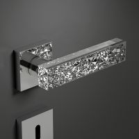 Ручка Glass Design Kymi Ice. хром полированный/прозрачный кристалл