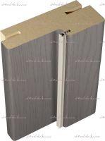 Дверная коробка (стойка)  с уплотнителем 2070х80х38мм. телескоп с покрытием эко-шпон SoftTouch структурный Ясень графит, Ясень грей, Ясень капучино, Ясень белый :