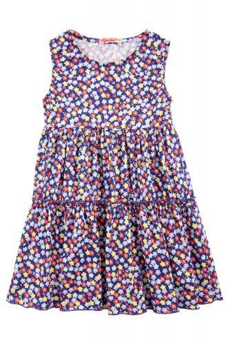 """Платье на девочек 2-5 лет Bonito kids """"flowers"""" фиолетовое"""