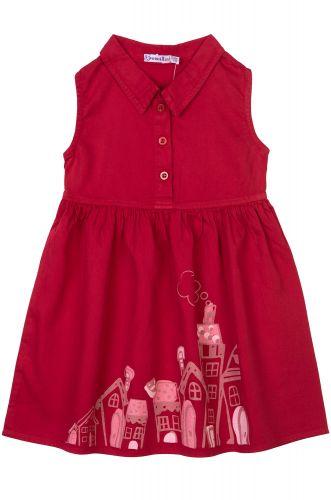 """Платье на девочек 2-6 лет Bonito kids """"Lodges"""" бордовое"""