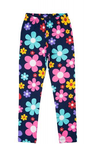 """Леггинсы для девочек 8-12 лет Bonito kids """"flowers"""" темно-синие"""