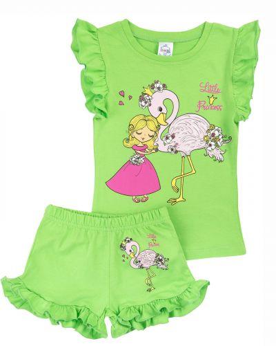 """Костюм для девочек 1-4 лет Bonito kids """"Little Princess"""" зеленый"""