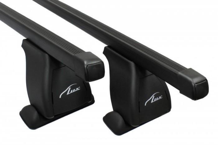 Багажник на крышу Toyota Highlander 2014-..., Lux, прямоугольные стальные дуги