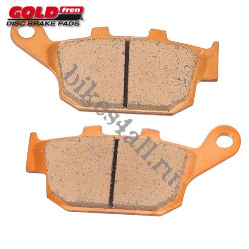 Колодки тормозные задние GOLDfren для Honda CB-1 / CB400 92-98 / CB500F/X 13+ / CBR250 87+ / CBR400 88-98 / CBR500R/RA 13+ / NT650 / NX650 / VFR400R 90-94 / XL600V / XL650V 00-10 / XRV750 90-01
