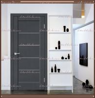 Межкомнатная дверь PREMIER 1 SoftTouch структурный Ясень графит, стекло - Мателюкс :