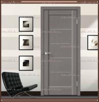 Межкомнатная дверь PREMIER 1 SoftTouch структурный Ясень грей, стекло - Мателюкс :