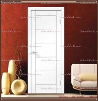 Межкомнатная дверь PREMIER 1 SoftTouch структурный Ясень белый, стекло - Мателюкс :