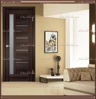 Межкомнатная дверь PREMIER 3  Орех Каштан, стекло - Мателюкс :