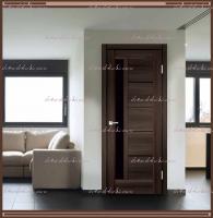 Межкомнатная дверь PREMIER 3  Орех Каштан, стекло - ЛАКОБЕЛЬ Чёрное :
