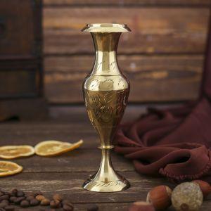 """Интерьерный сувенир ваза """"Золотые перья"""" h -14 см, d-4,5 см   4305068"""