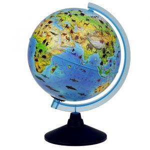 Глoбус зоогеографический, детский «Классик Евро», диаметр 250 мм, с подсветкой от батареек