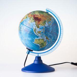Глoбус физико-политический «Классик Евро», диаметр 150 мм, с подсветкой