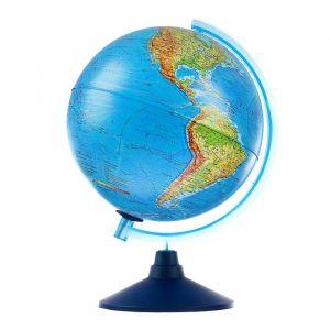 Интерактивный глобус Земли физико-политический, диаметр 250 мм, с подсветкой