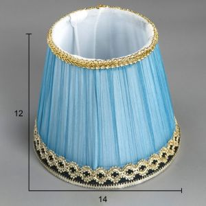 Абажур E14 синий 14х14х12 см.   4460010