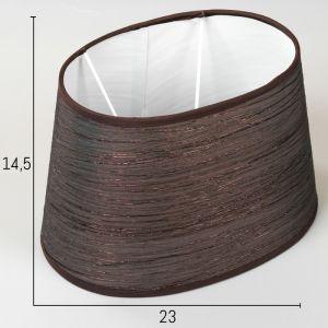 Абажур Е14 коричневый 17х23 см.   4415796