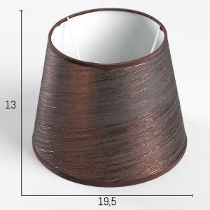 Абажур Е14 коричневый d.20 см   4415795