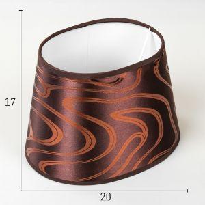 Абажур Е14 коричневый-золотой 15х20 см.   4415793