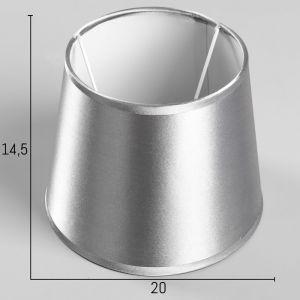 Абажур Е14 серебристый d.20 см   4415799