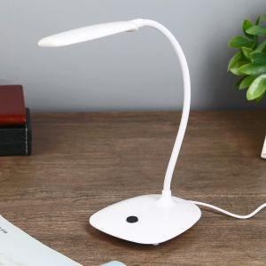 """Лампа настольная """"Воркер"""" LED 6Вт белый 10х15х37 см.   4301353"""