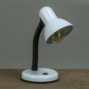 Лампа настольная Е27, с выкл. (220В) белая 34х14х14   3723902