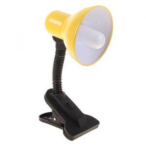 Настольная лампа на прищепке с кнопкой, жёлтая, провод 78 см