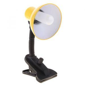 Лампа настольная Е27, светорегулятор на зажиме (220В) желтая (108А) 739289