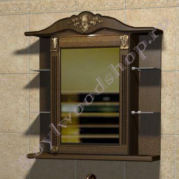 """Зеркало-шкаф """"Глазго Эндрю-85 орех"""""""