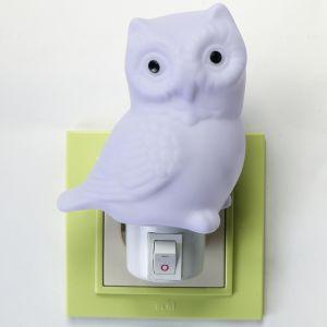 "Ночник пластик ""Сова"" LED 9х6х12,5 см   3737491"