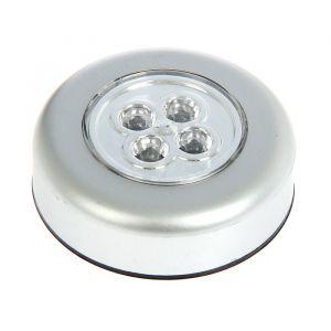 "Светильник-пушлайт ""Таблетка"" серебро, 4 LED"