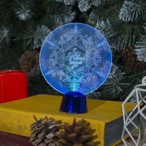 "Подставка световая ""Снежинка"", 13.5х11 см, 1 LED, батарейки в комплекте, RGB микс 2446501"