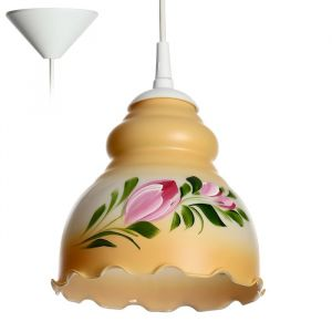 Светильник  Елена 1 лампа E27 60 Вт бежевый 4131398
