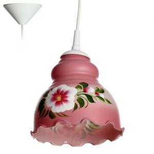 Светильник  Елена 1 лампа E27 60 Вт мол. бордовый 4131399