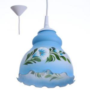 Светильник  Елена 1 лампа E27 60 Вт мол. голубой 4131401