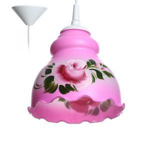 Светильник  Елена 1 лампа E27 60 Вт мол. розовая 3903002