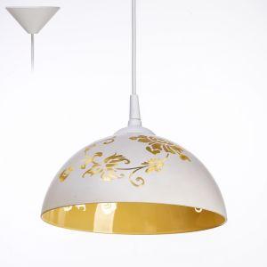 "Светильник  Колпак ""Рочелл"" 1 лампа E27 40Вт белый-шампань  д.250   2492583"