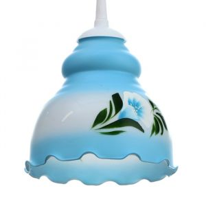 "Светильник ""Елена"" 1 лампа E27 60 Вт молочно-голубой 2773419"
