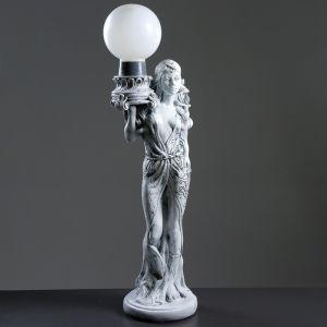 """Лампа интерьерная """"Восточная красавица"""" серый камень 100см  3893295"""