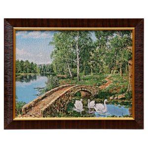 """E025-30x40 Картина из гобелена """"Каменный мост в лесу"""" (30х40) 4889372"""