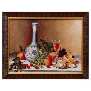 "E090-30х40 Картина из гобелена ""Бокал вина"" (35х45) 4889376"