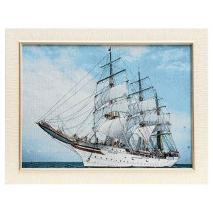 """Картина из гобелена """"Корабль"""", 35х45 см"""