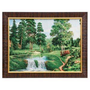 """Картина из гобелена """"Тропка у лесного порога"""", 35х45 см"""