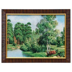 """Картина из гобелена """"Летняя речка"""", 35х45 см"""