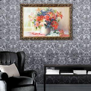 "Гобеленовая картина ""Букет на окне"" рама микс"