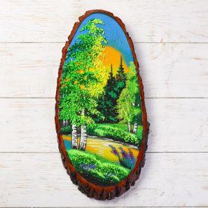 """Панно на спиле """"Лето"""", 40 см, каменная крошка, вертикальное 1144311"""