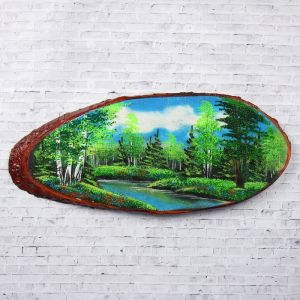 """Панно на спиле """"Лето"""", 60 см, каменная крошка, горизонтальное 1194933"""