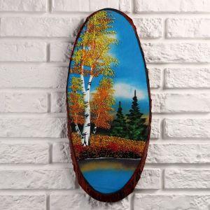 """Панно на спиле """"Осень"""", 50 см,  каменная крошка, вертикальное 1144314"""