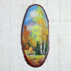"""Панно на спиле """"Осень"""", 60 см, каменная крошка, вертикальное 1144319"""