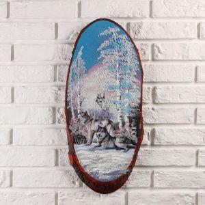 """Панно на спиле """"Стая"""", 60 см, каменная крошка, вертикальное 4997464"""